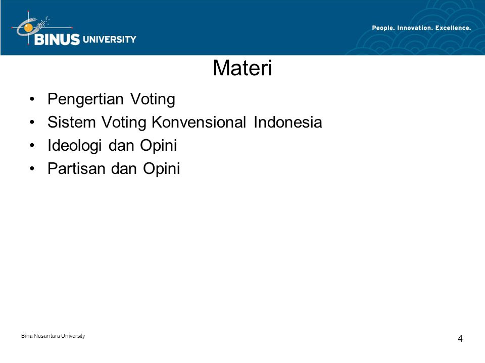 Materi Pengertian Voting Sistem Voting Konvensional Indonesia