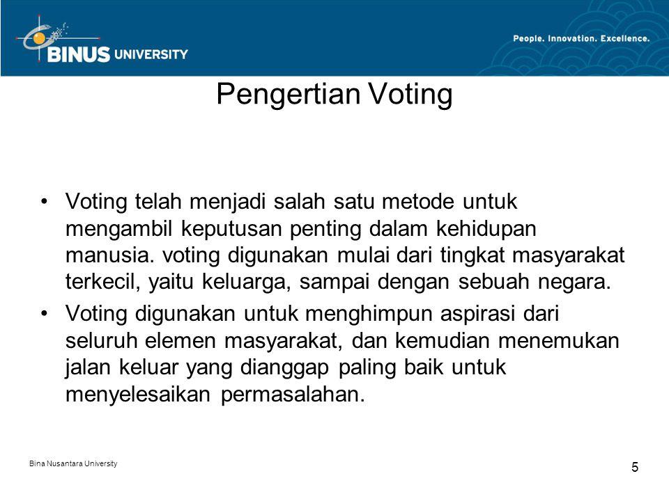 Pengertian Voting