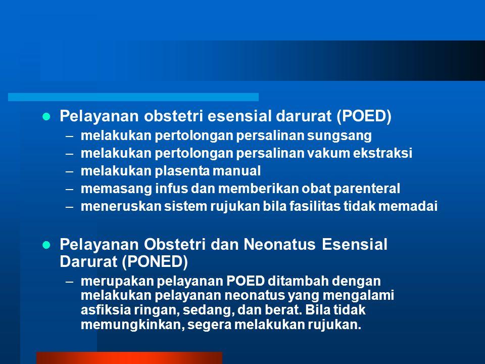 Pelayanan obstetri esensial darurat (POED)