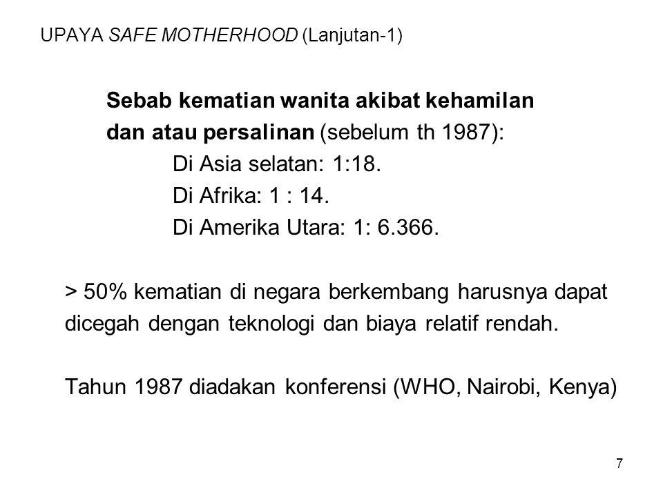 UPAYA SAFE MOTHERHOOD (Lanjutan-1)