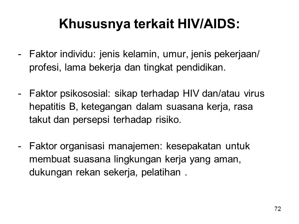 Khususnya terkait HIV/AIDS: