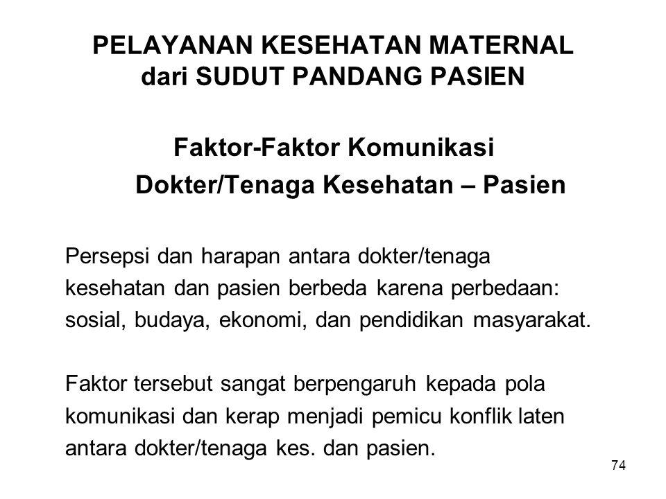 PELAYANAN KESEHATAN MATERNAL dari SUDUT PANDANG PASIEN