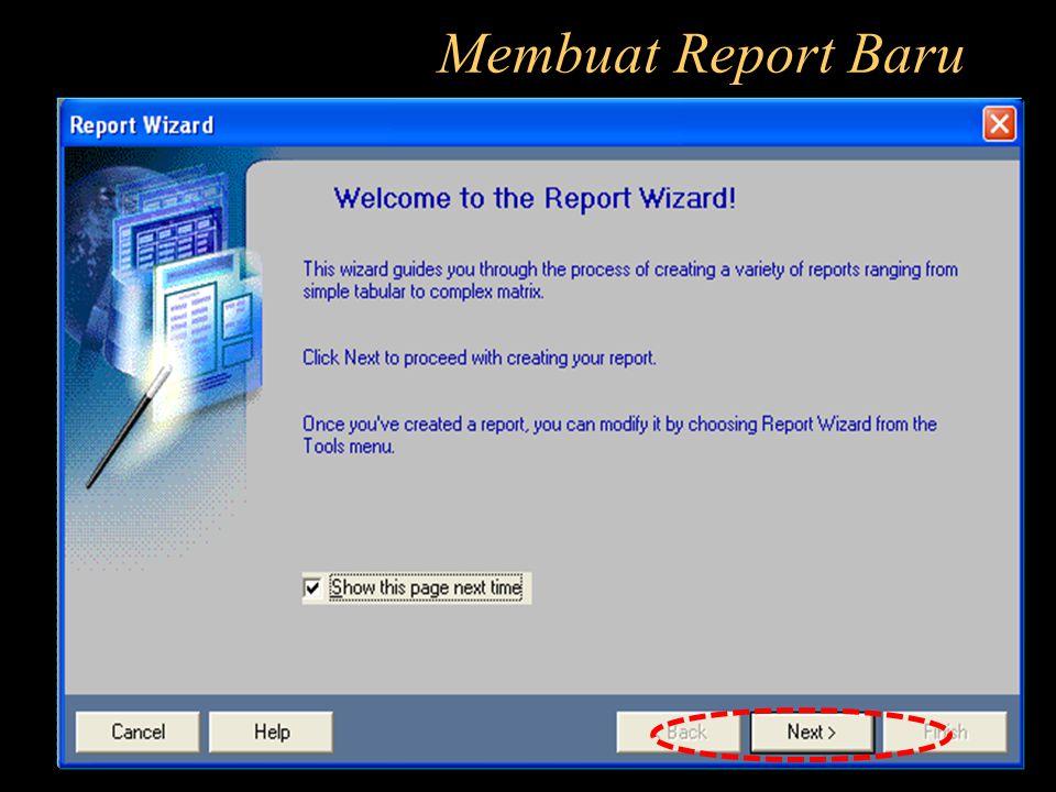 Membuat Report Baru