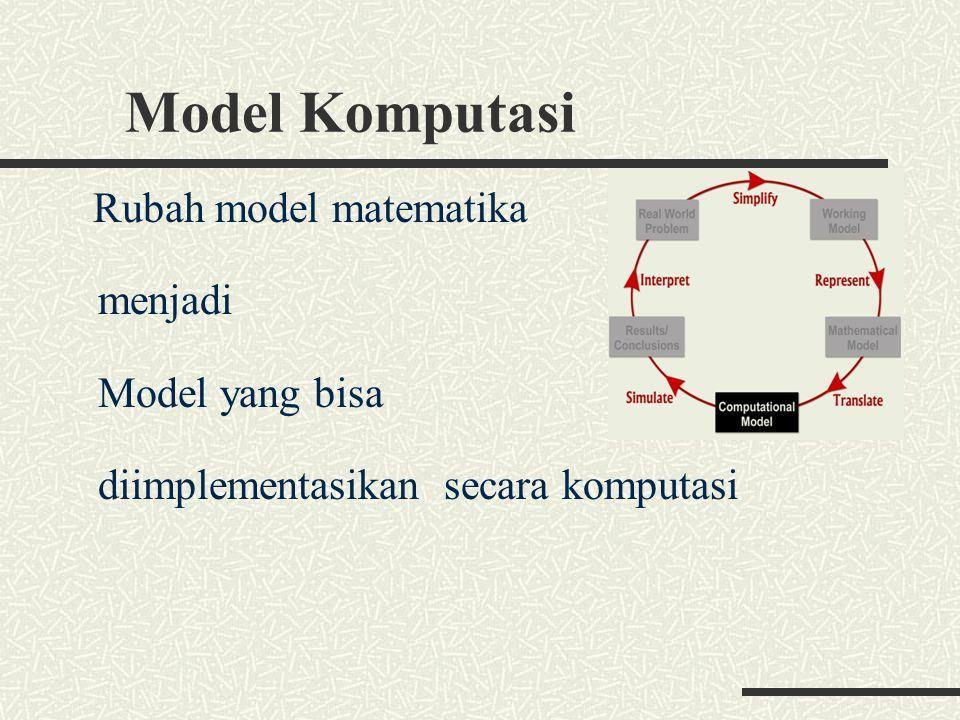 Model Komputasi menjadi Model yang bisa