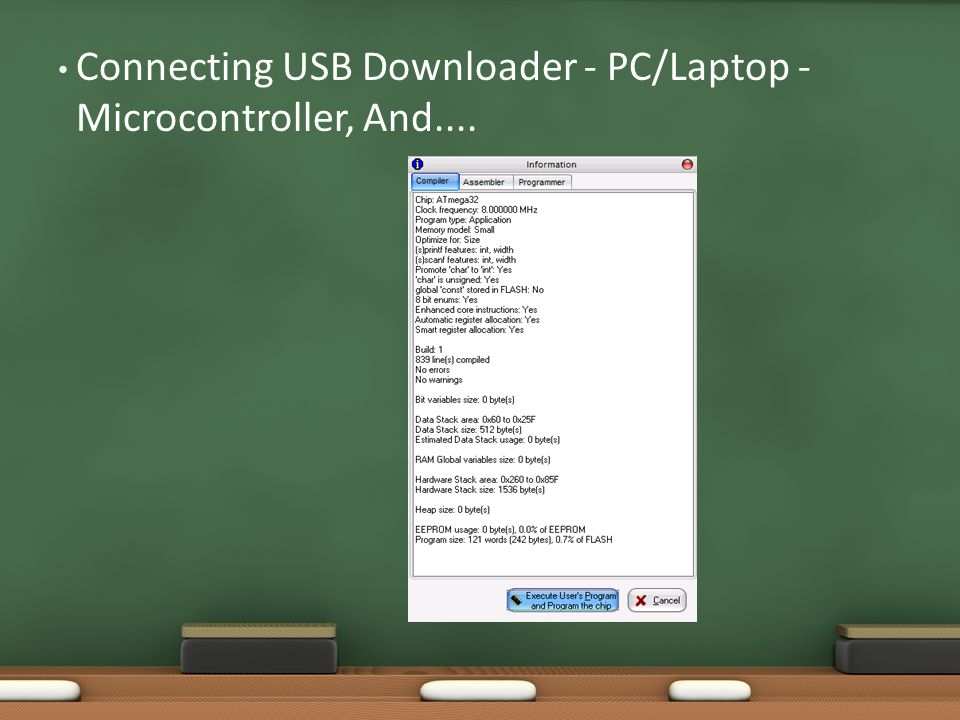 Connecting USB Downloader - PC/Laptop - Microcontroller, And....