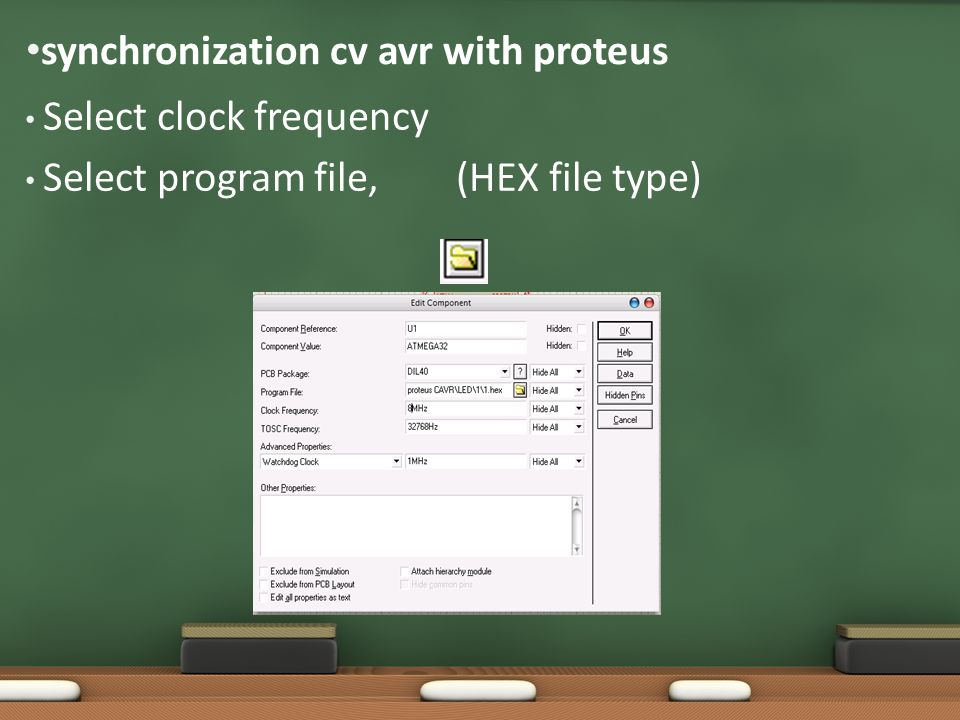 synchronization cv avr with proteus