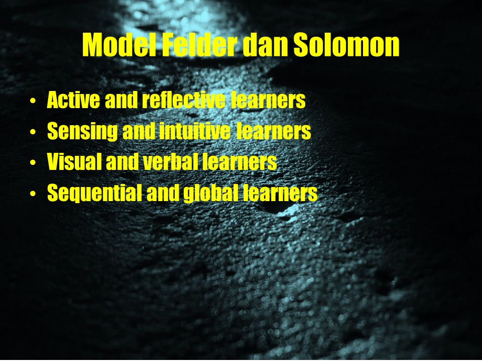 Model Felder dan Solomon