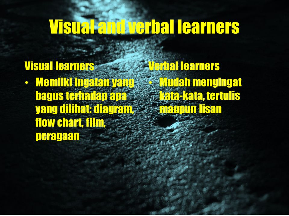 Visual and verbal learners