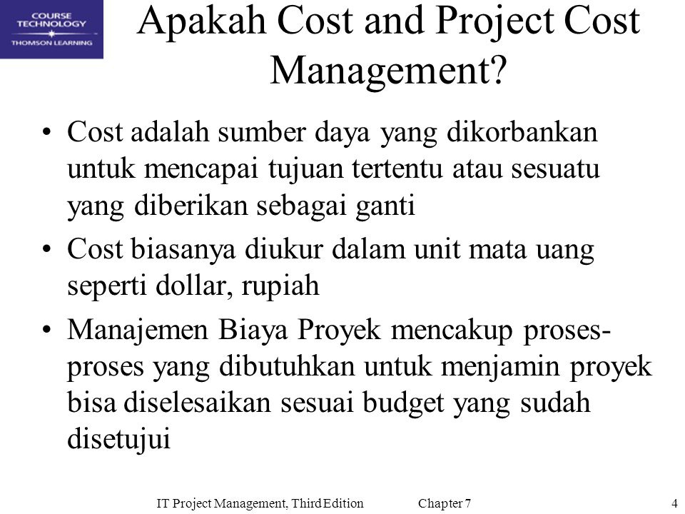 Apakah Cost and Project Cost Management