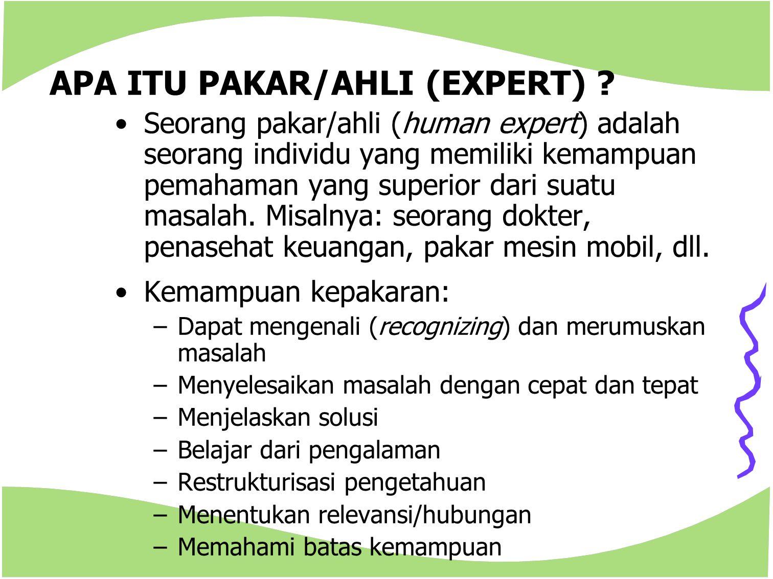 APA ITU PAKAR/AHLI (EXPERT)