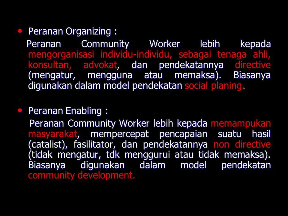 Peranan Organizing :