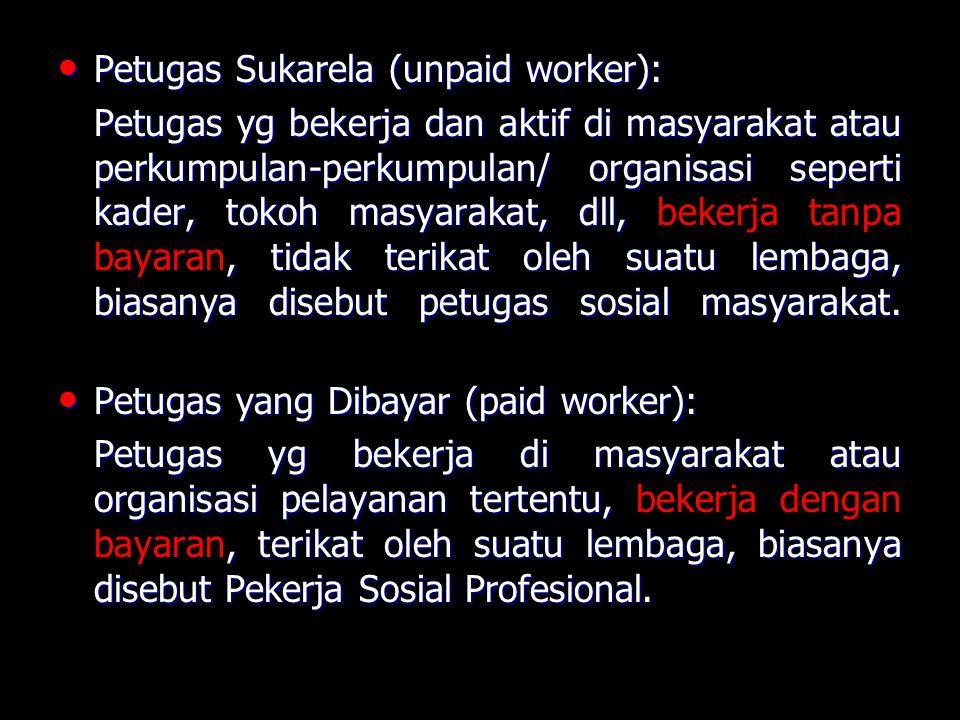 Petugas Sukarela (unpaid worker):