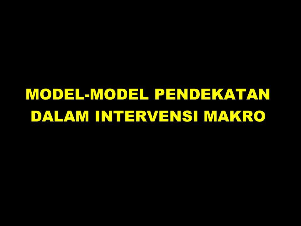 MODEL-MODEL PENDEKATAN DALAM INTERVENSI MAKRO