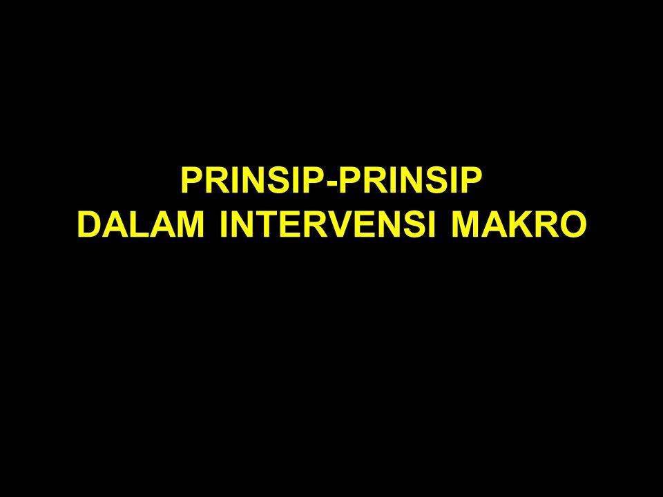 PRINSIP-PRINSIP DALAM INTERVENSI MAKRO