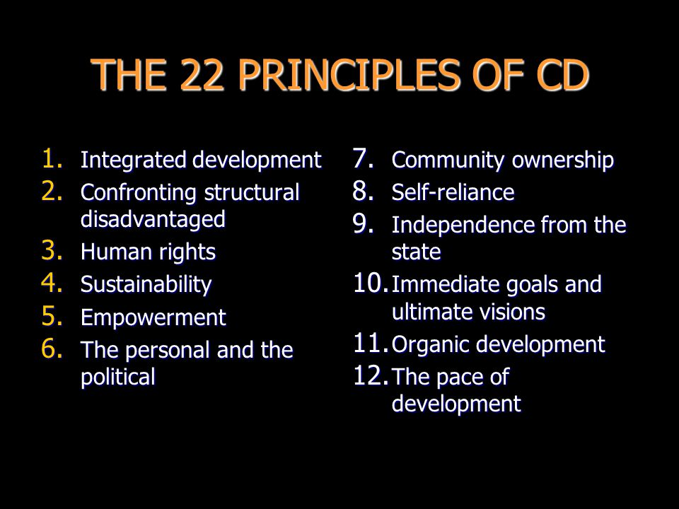 THE 22 PRINCIPLES OF CD Integrated development