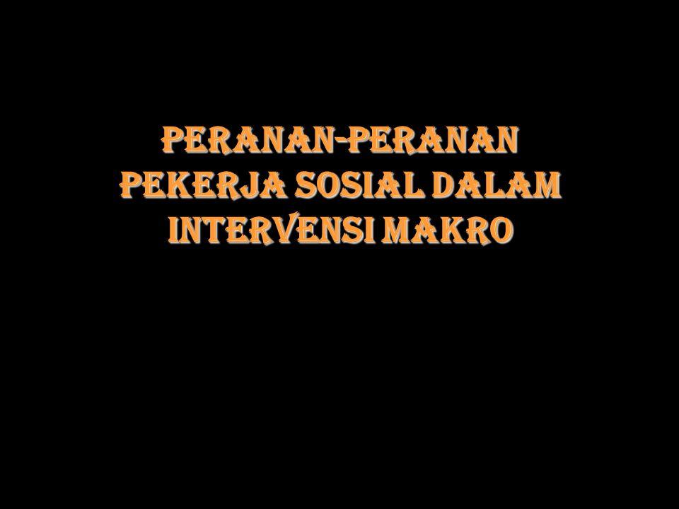 Peranan-peranan Pekerja Sosial dalam Intervensi Makro