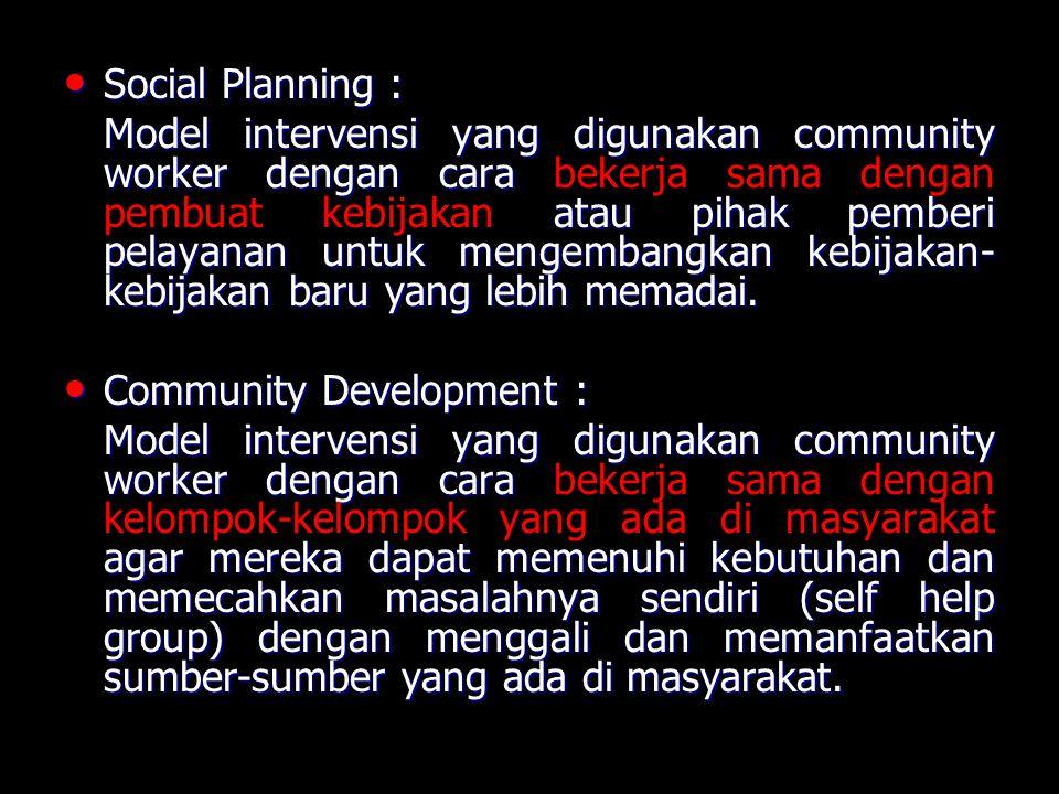Social Planning :