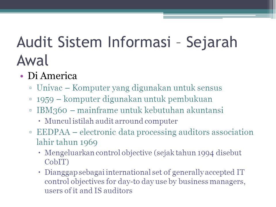 Audit Sistem Informasi – Sejarah Awal