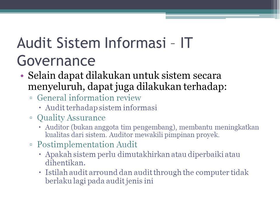 Audit Sistem Informasi – IT Governance
