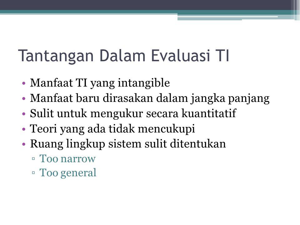 Tantangan Dalam Evaluasi TI