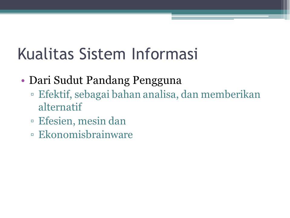 Kualitas Sistem Informasi
