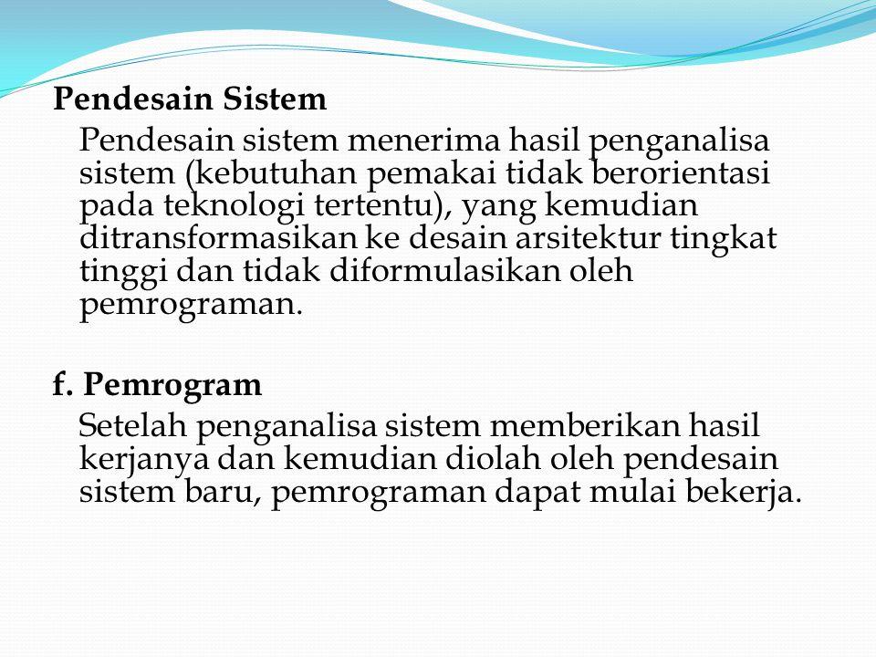 Pendesain Sistem