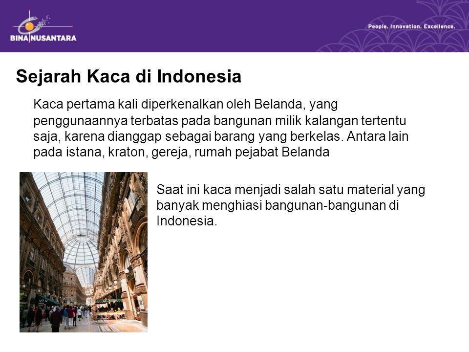 Sejarah Kaca di Indonesia