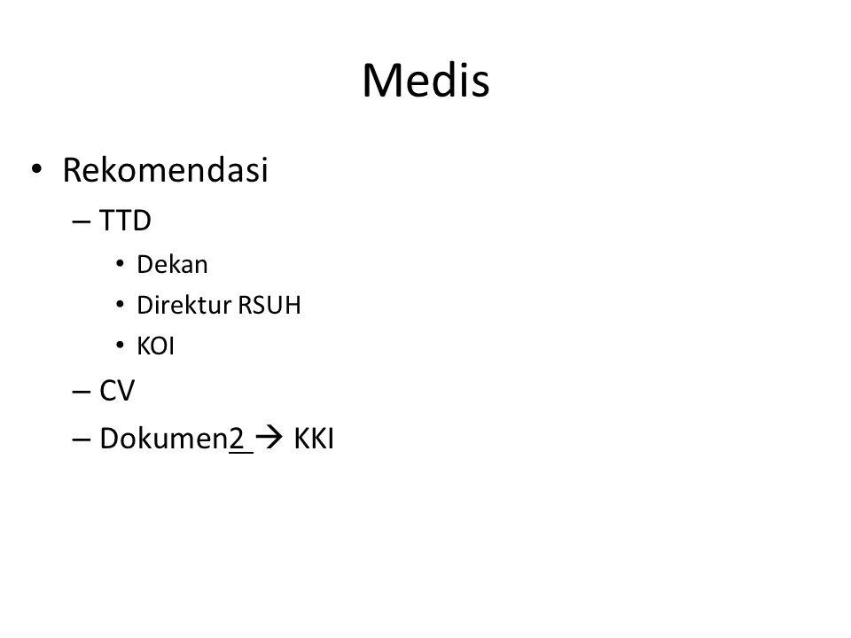 Medis Rekomendasi TTD Dekan Direktur RSUH KOI CV Dokumen2  KKI