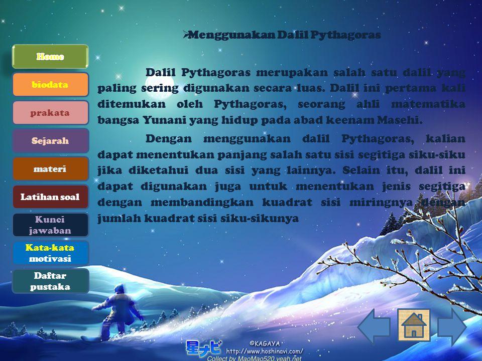 Menggunakan Dalil Pythagoras
