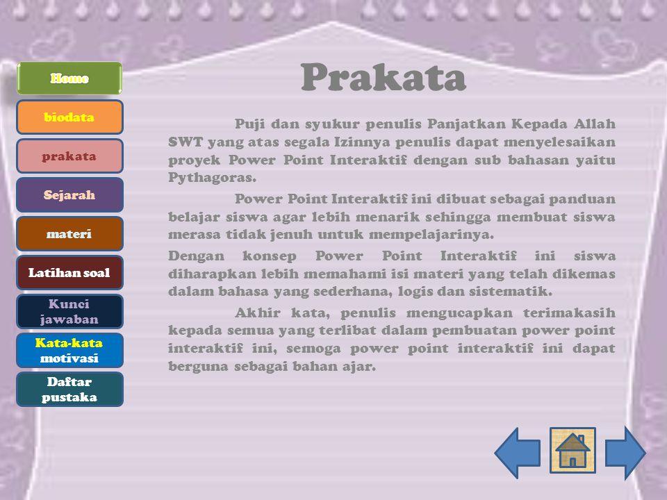 Prakata Home. biodata.