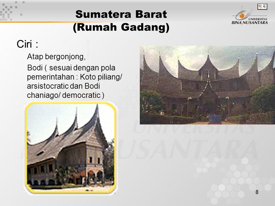 Sumatera Barat (Rumah Gadang)