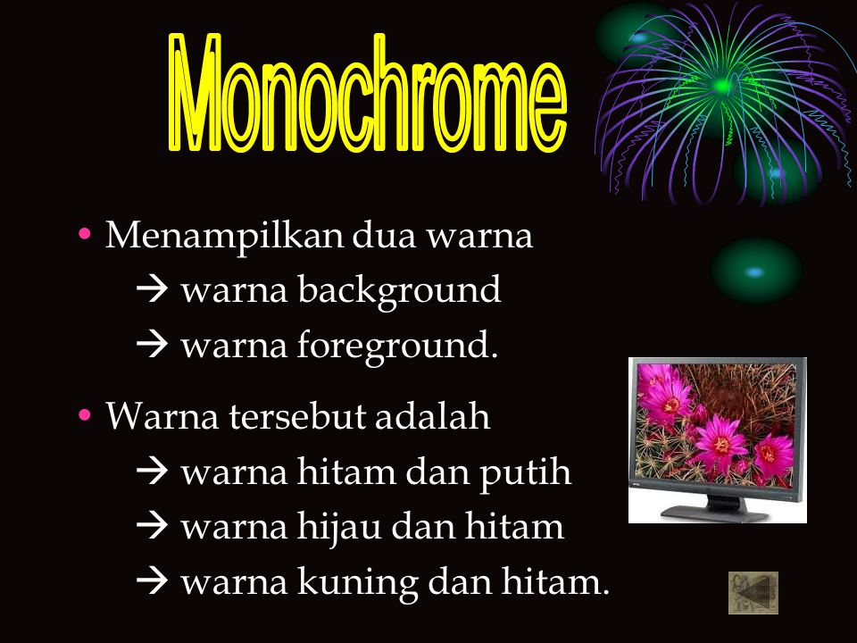 Monochrome Menampilkan dua warna  warna background