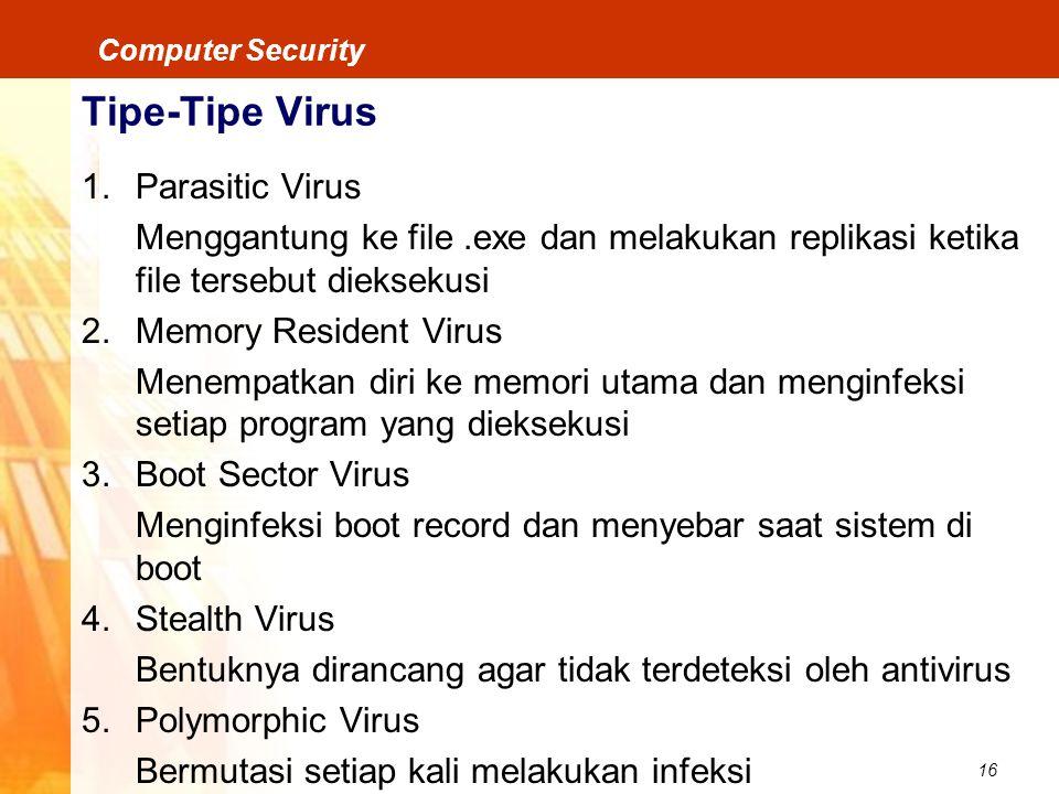 Tipe-Tipe Virus Parasitic Virus