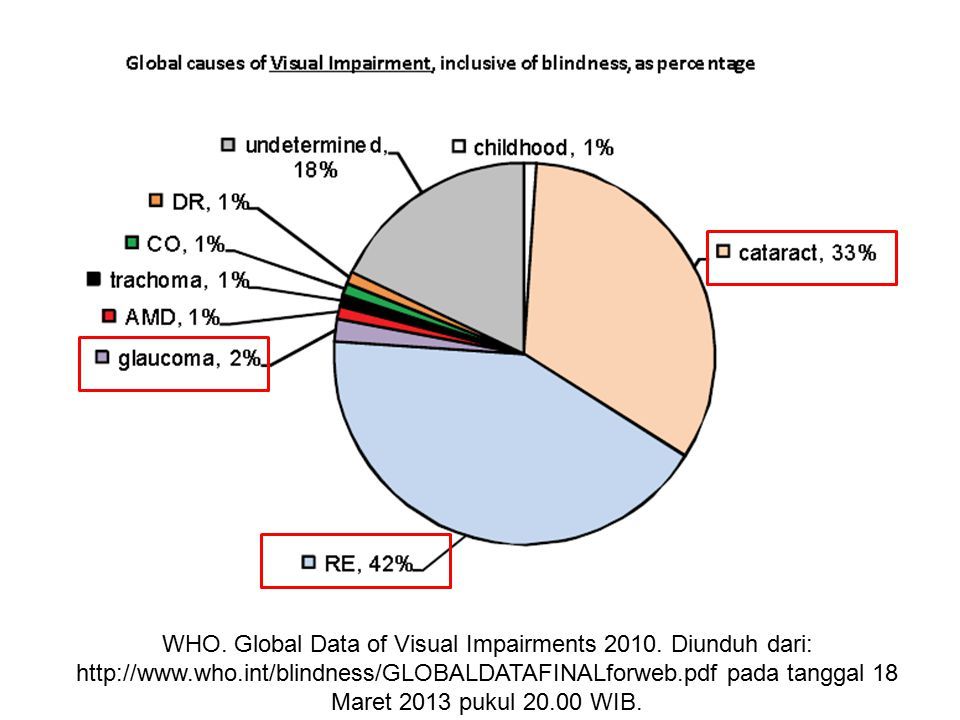 WHO. Global Data of Visual Impairments 2010. Diunduh dari: http://www