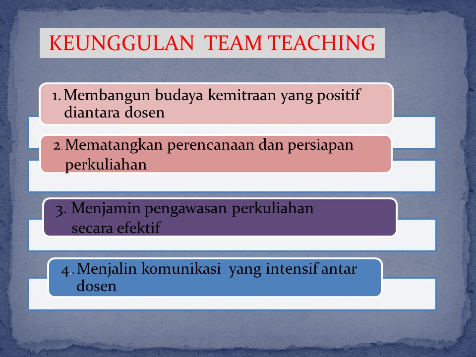 KEUNGGULAN TEAM TEACHING