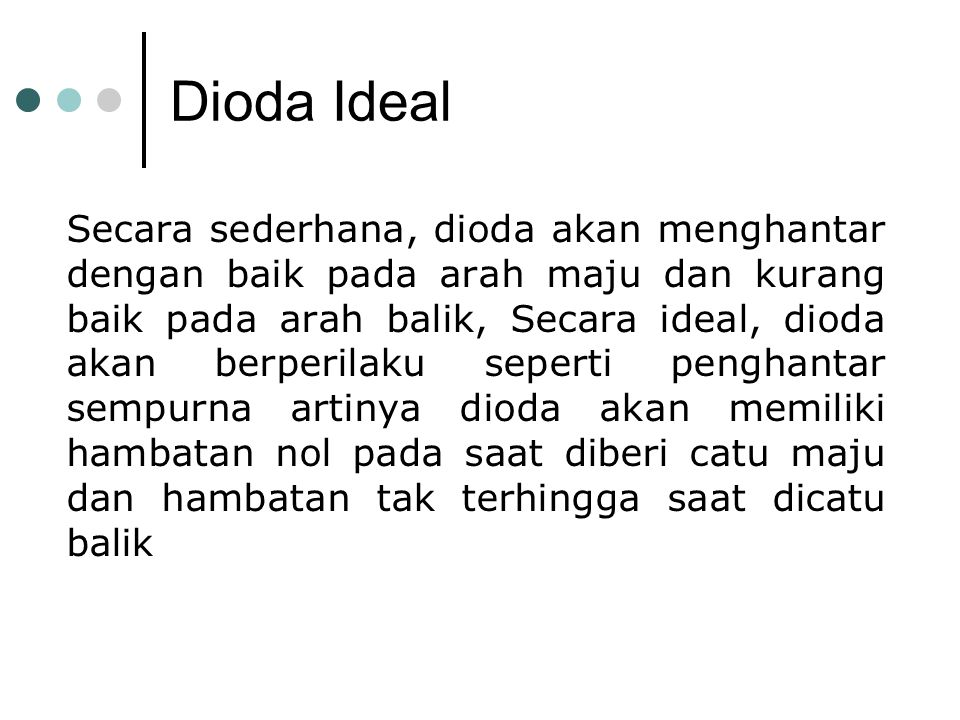 Dioda Ideal