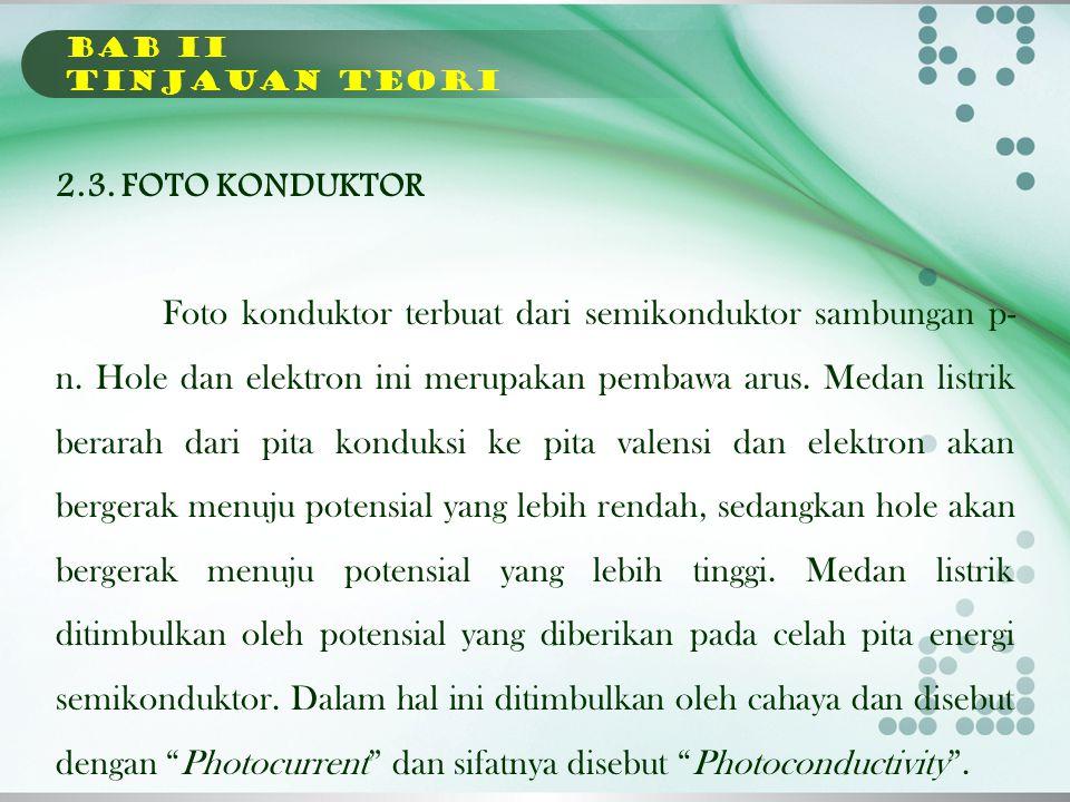 BAB II TINJAUAN TEORI 2.3. FOTO KONDUKTOR.