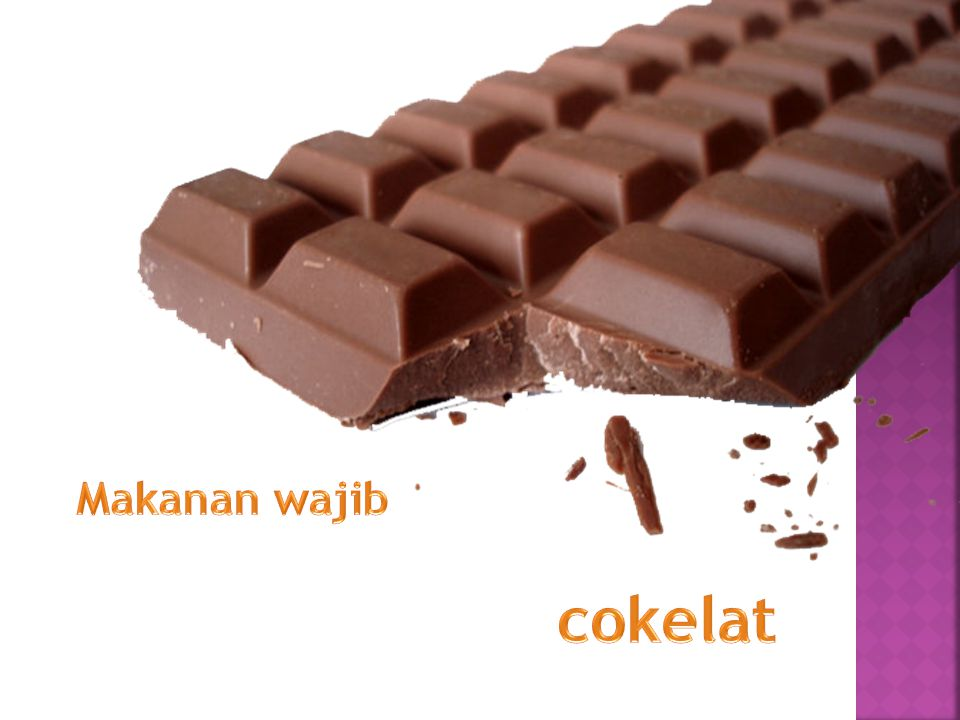 Makanan wajib cokelat