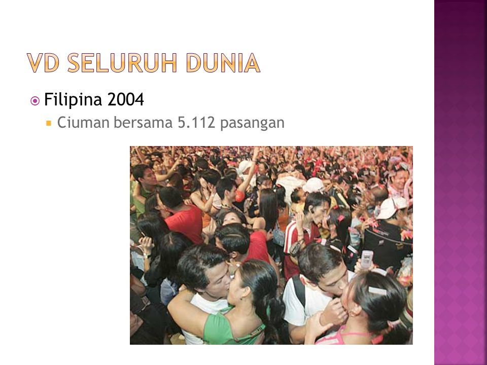 VD Seluruh dunia Filipina 2004 Ciuman bersama 5.112 pasangan