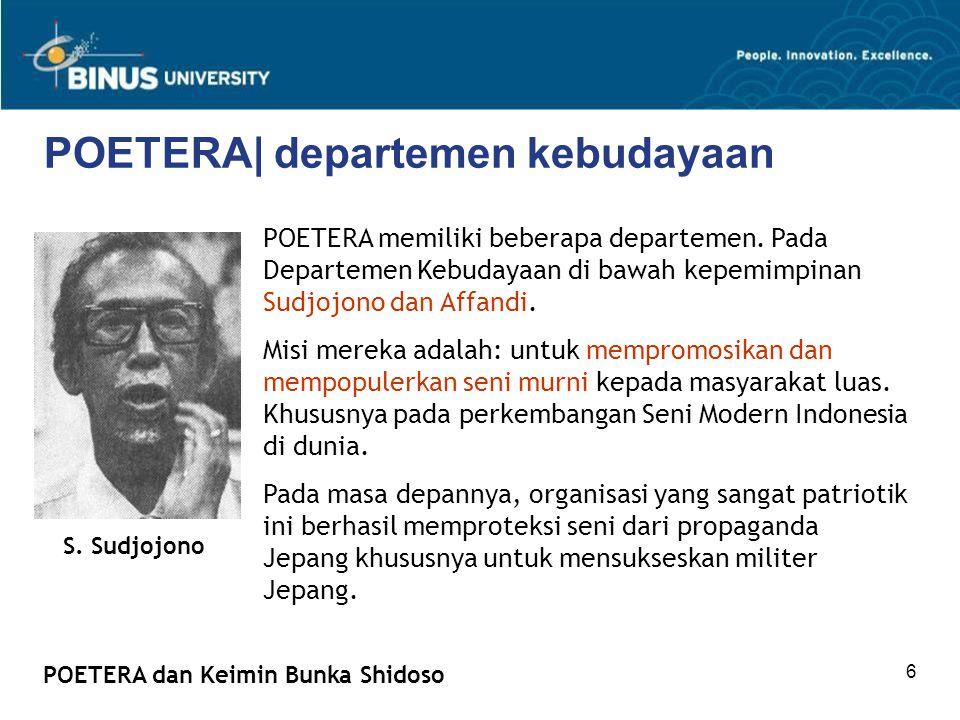 POETERA| departemen kebudayaan