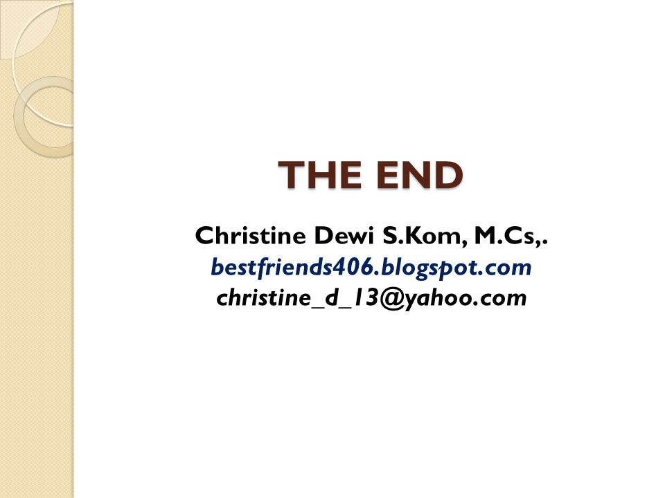 Christine Dewi S.Kom, M.Cs,.
