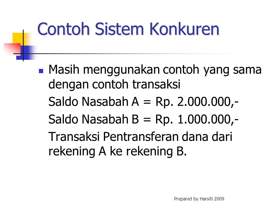 Contoh Sistem Konkuren