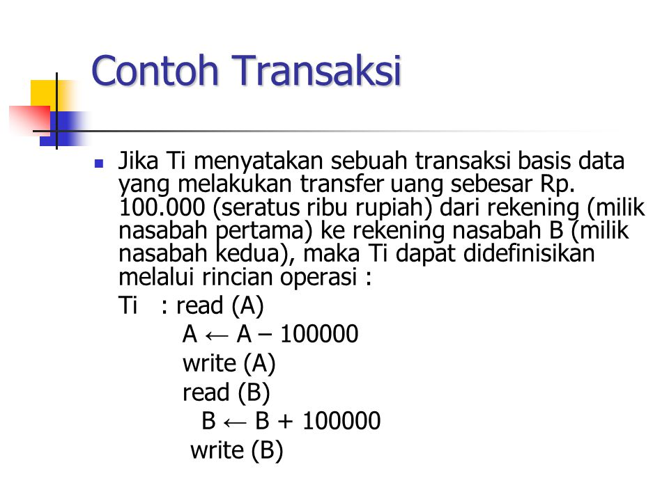 Contoh Transaksi
