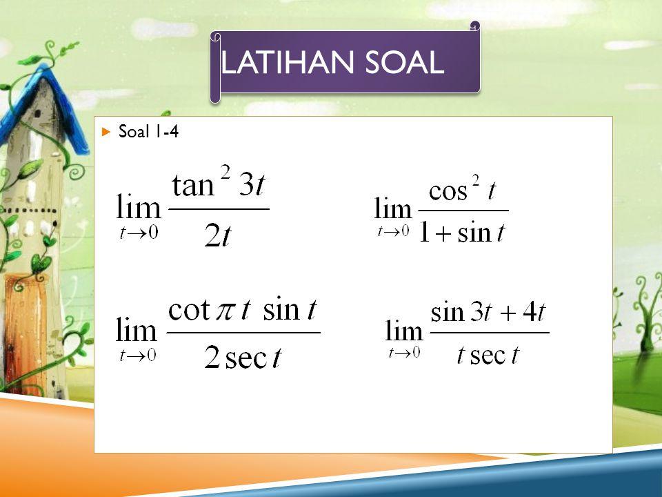 Latihan soal Soal 1-4