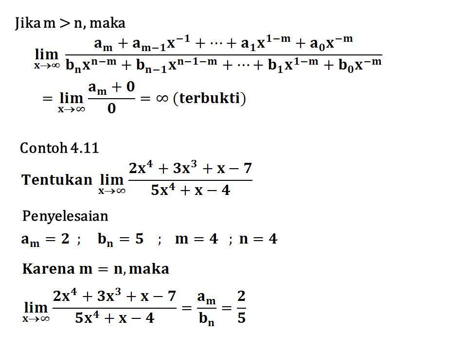 Jika m > n, maka Contoh 4.11 Penyelesaian