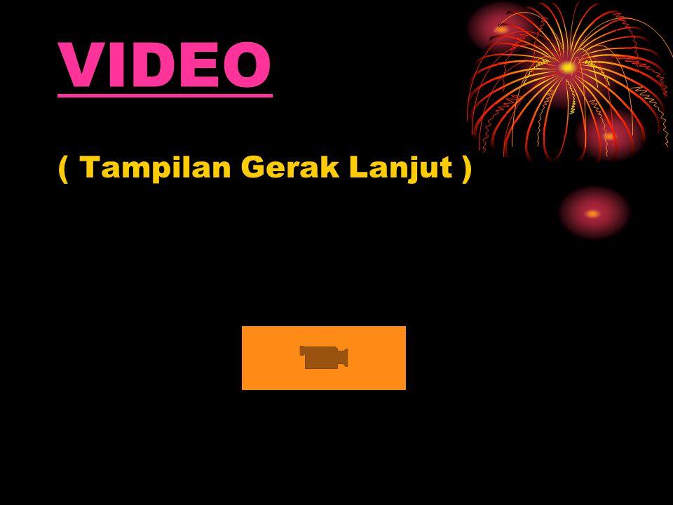 VIDEO ( Tampilan Gerak Lanjut )