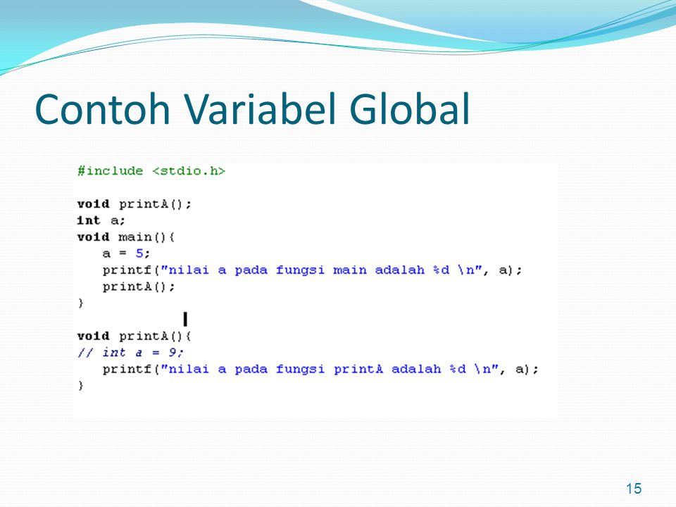 Contoh Variabel Global