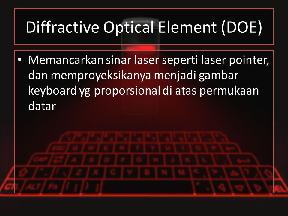Diffractive Optical Element (DOE)