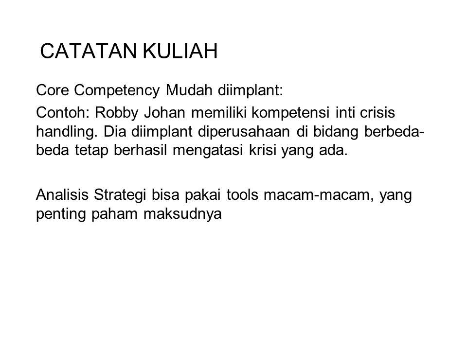 CATATAN KULIAH Core Competency Mudah diimplant: