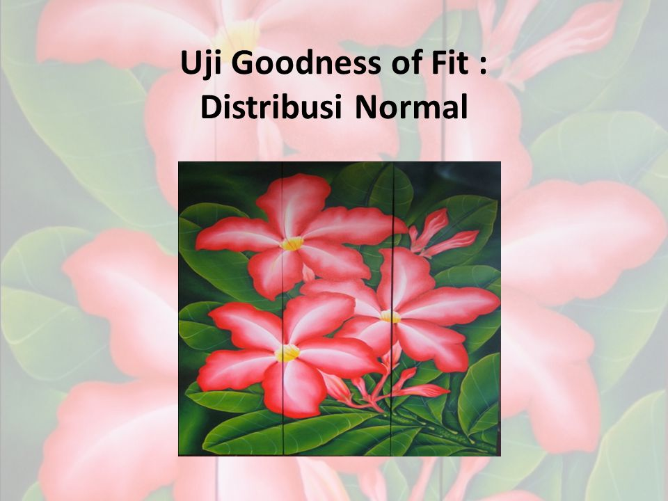 Uji Goodness of Fit : Distribusi Normal